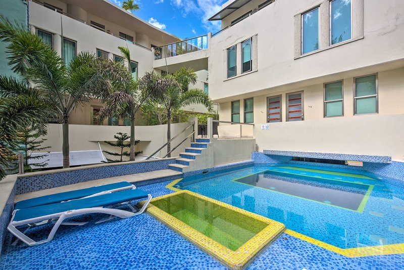 This vacation rental has a private rooftop pool.