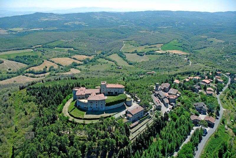 Castle of Montegiove and Montegiove village