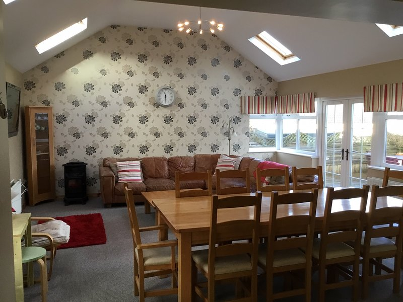 Open plan family dining room