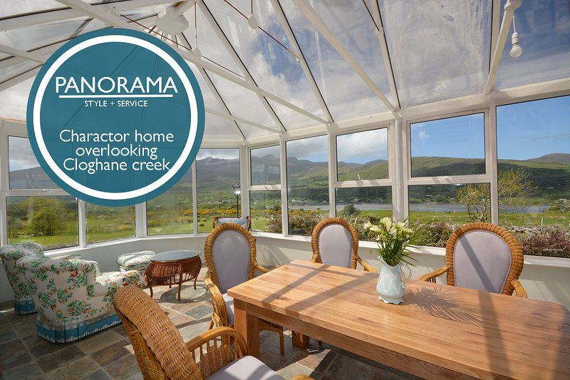 Panorama - On the hillside overlooking Cloghane Creek, holiday rental in Cloghane