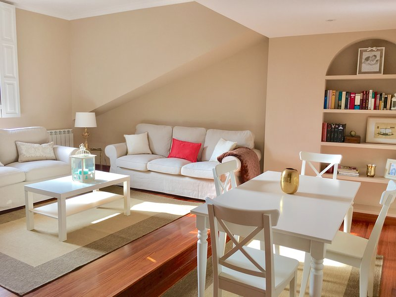 Duplex soleado, calle corrida, Casco Antiguo, holiday rental in Gijon