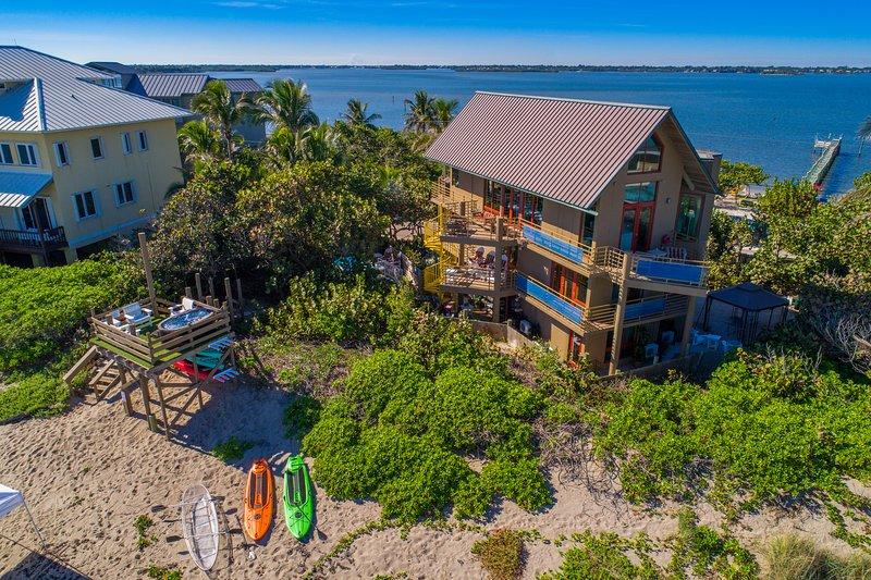 The Art House:  8BR/6BA ocean-to-river beach house, On.The.Beach! (w/pool+dock)