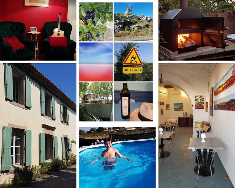 Twin Room ( small ) in B & B with pool, bar and garden, location de vacances à Azille