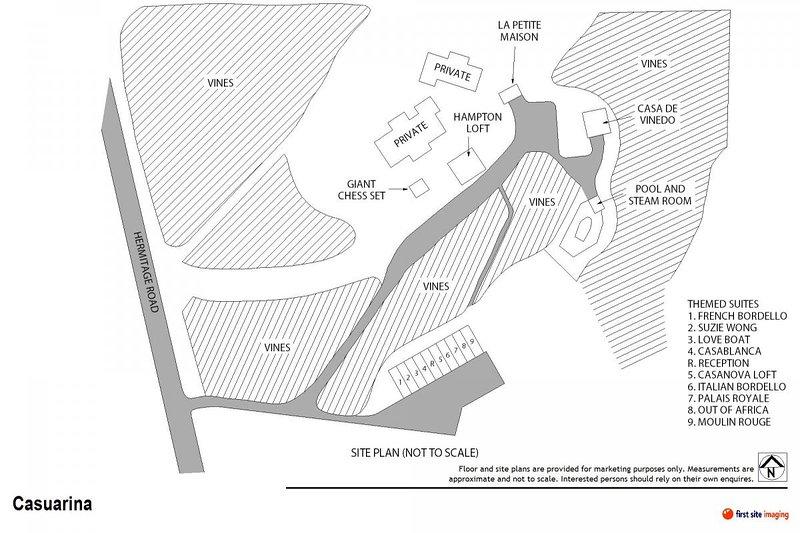 Hunter Valley Accommodation - Casuarina Estate - Themed Suite French Bordello - all