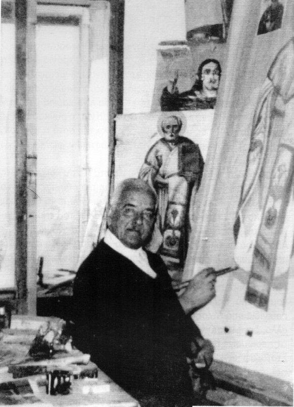 The icon painter himself: Panagiotis Gialellis