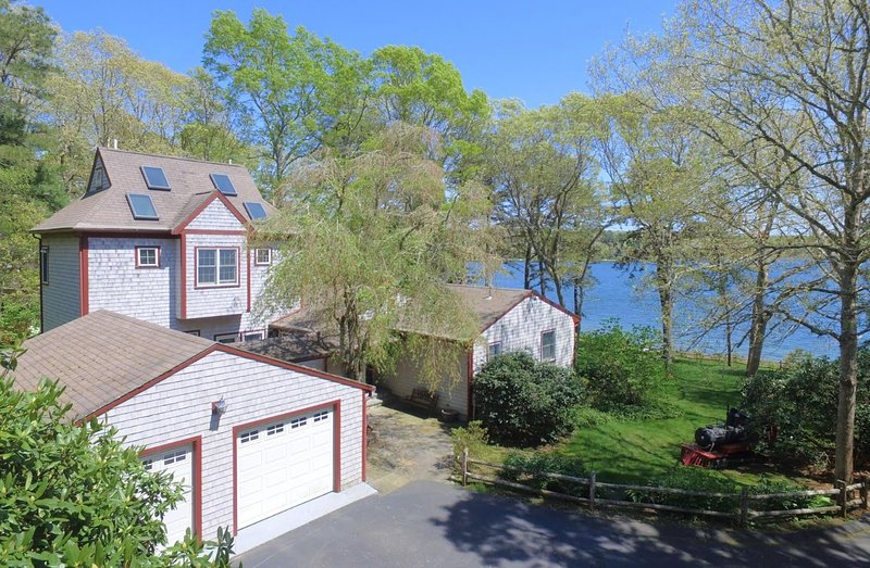 tranquil lake front home with private beach has balcony and dvd rh tripadvisor com