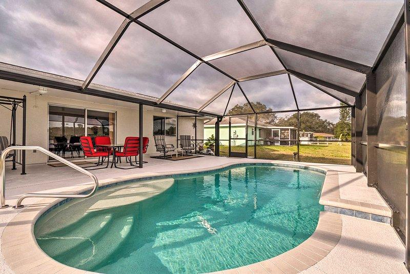Denna Sunshine State semester hyra hem rymmer 6 gäster!