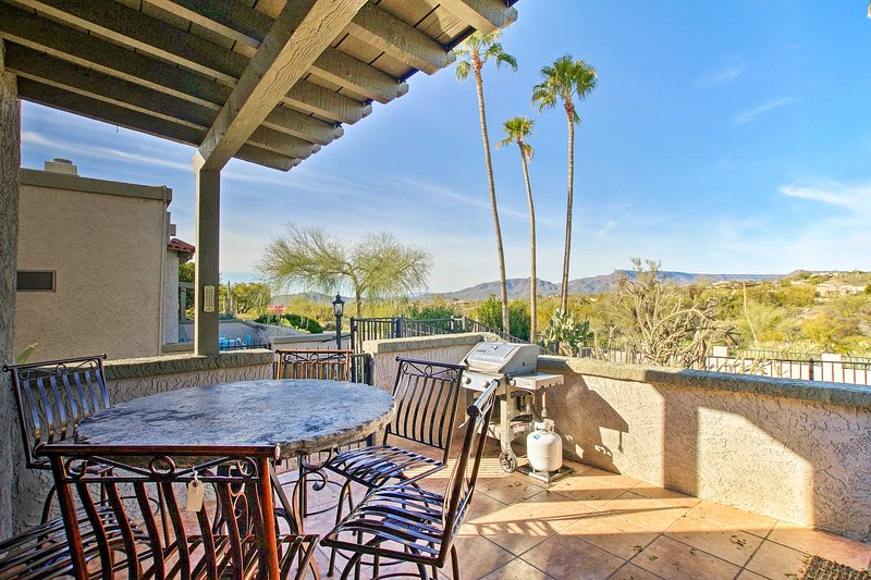 Soak in panoramic views from this Carefree vacation rental townhome!
