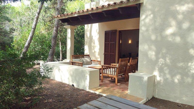 bungalow outside terrace