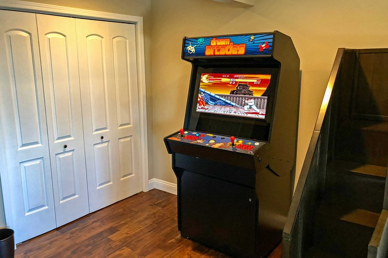 The home even offers its own Arcade Machines!