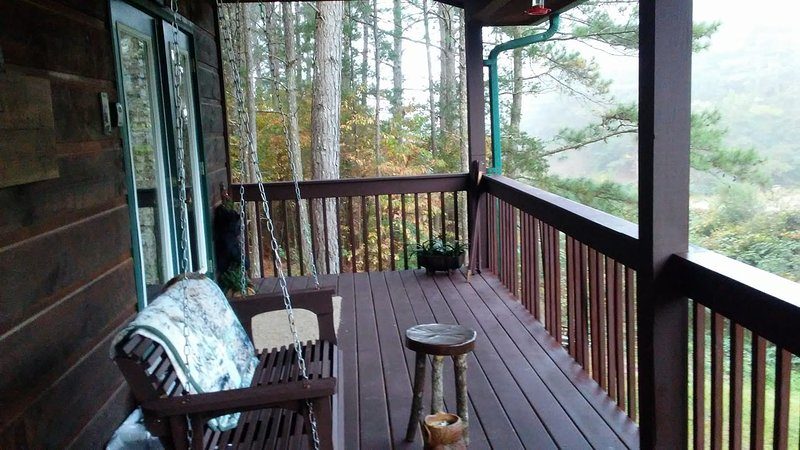 our front porch overlooking creek