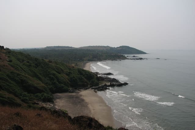Vagator hill and beach view is just 1 km away