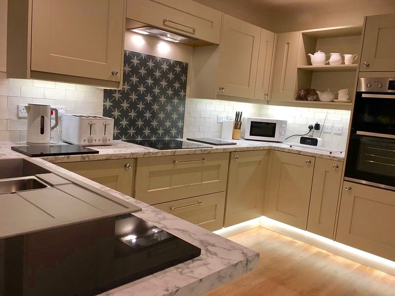 Our beautiful new fitted kitchen with double oven, dish washer, drier and washing machine etc