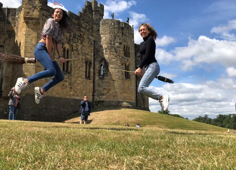 Try Broomstick training at Hogwarts, Alnwick Castle just 10 minutes drive away.