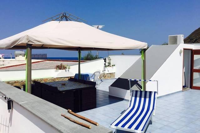 zona giorno sul tetto