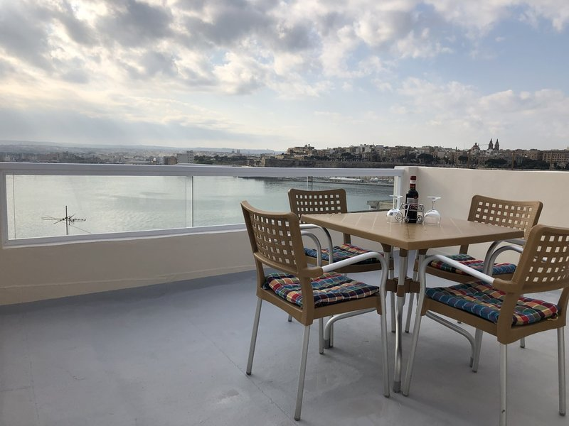 Terrace with Grand Harbour Views