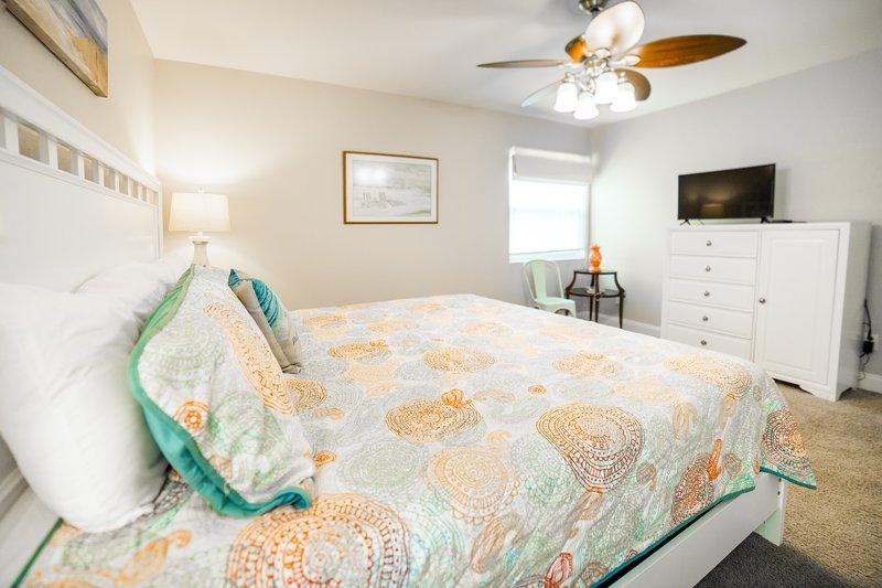 Ventilatore a soffitto, all'interno, camera, camera da letto, mobili