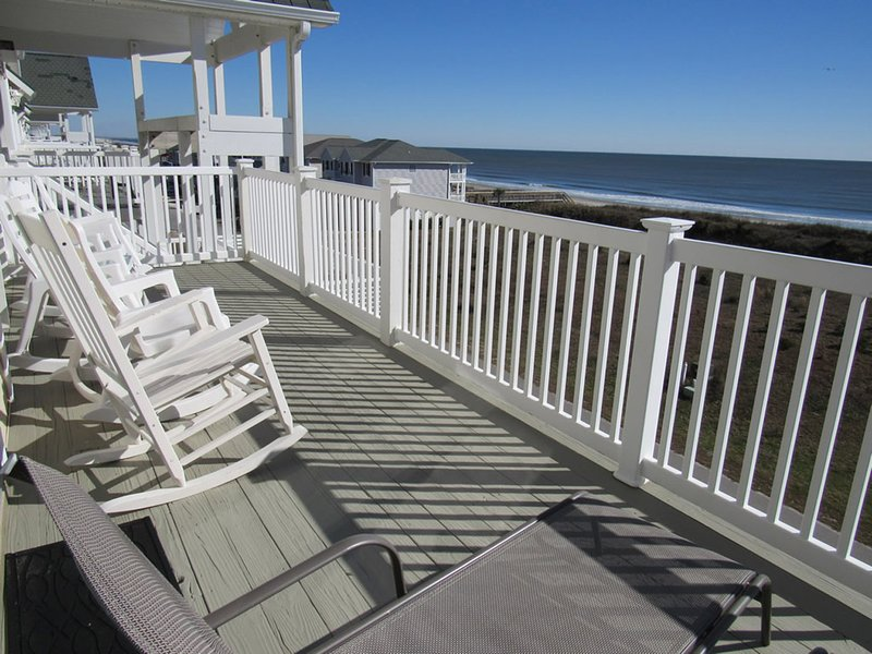 View of the Atlantic from the furnished deck