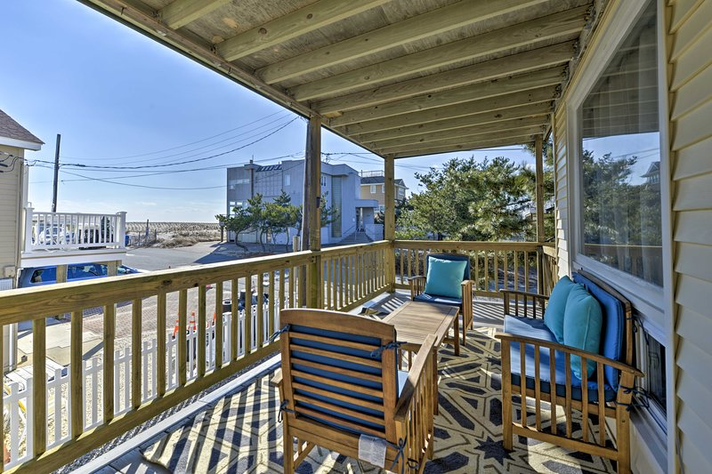 This Long Beach Township home boasts a private deck with beach views.