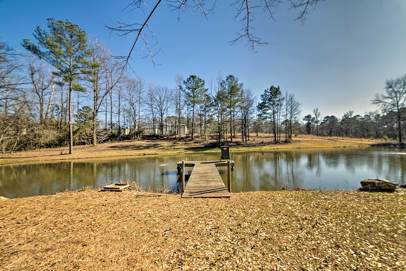 The 0.7-acre pond is full stocked with catch-and-release fish!