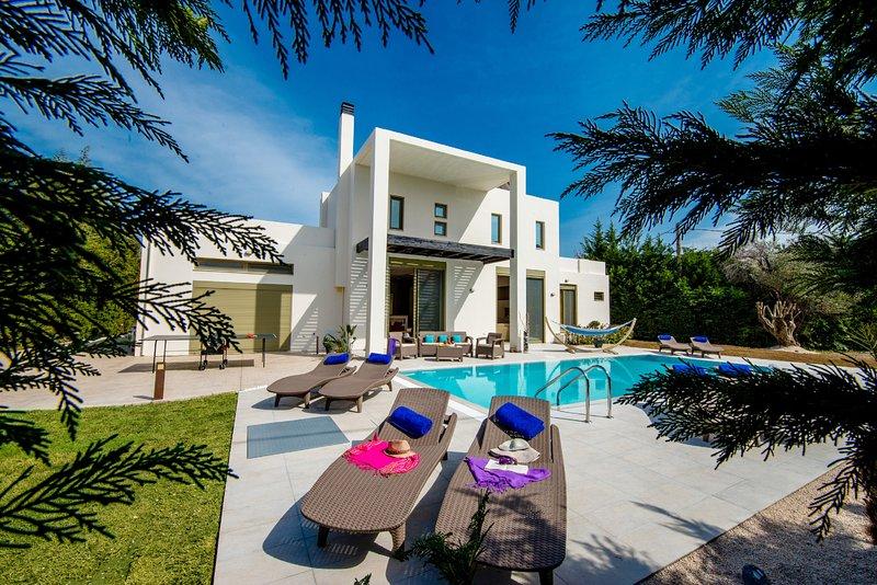 Filerimos Oasis Luxury Villa, location de vacances à Petaloudes