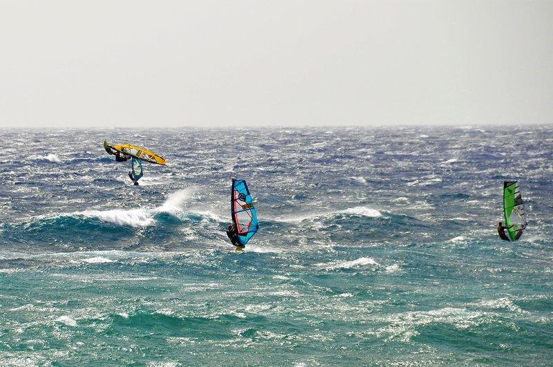 Windsurfing World Championship in Pozo Izquierdo. 25 km.