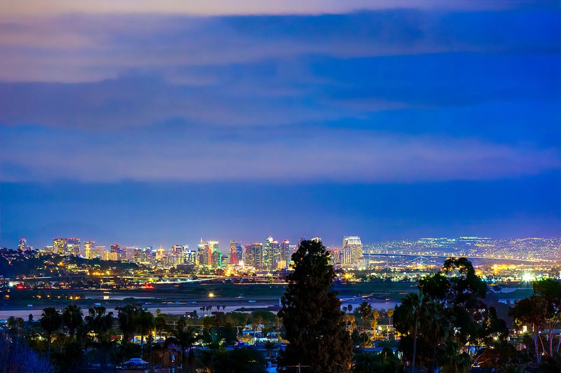 PLUS SAN DIEGO CITY SKYLINE, BAY AND MOUNTAIN VIEWS ALL THE WAY TO MEXICO!