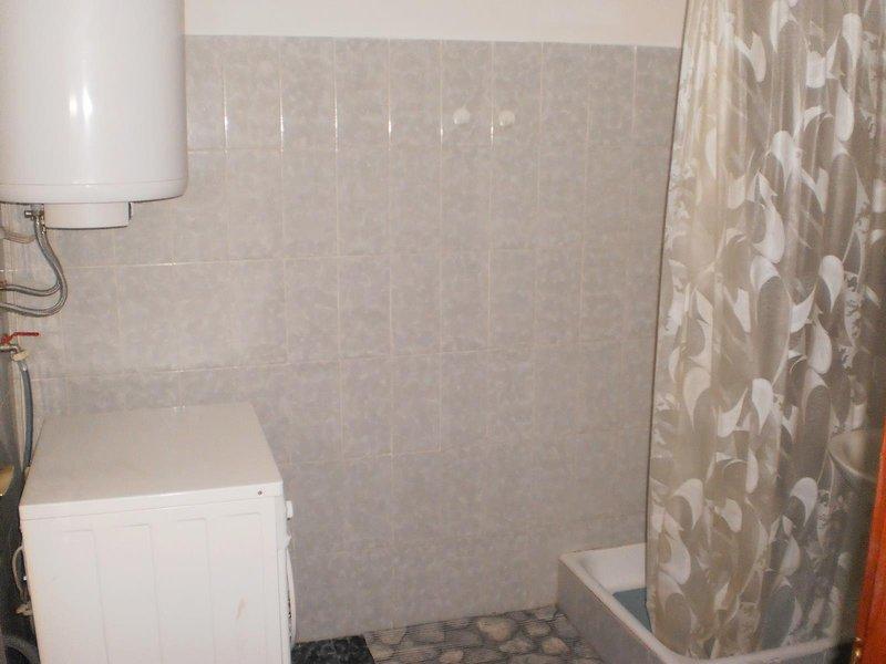 Intérieur, salle, salle de bains, rideau