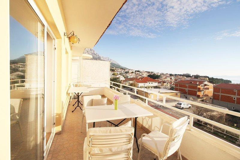 Stoel, meubels, balkon, terras