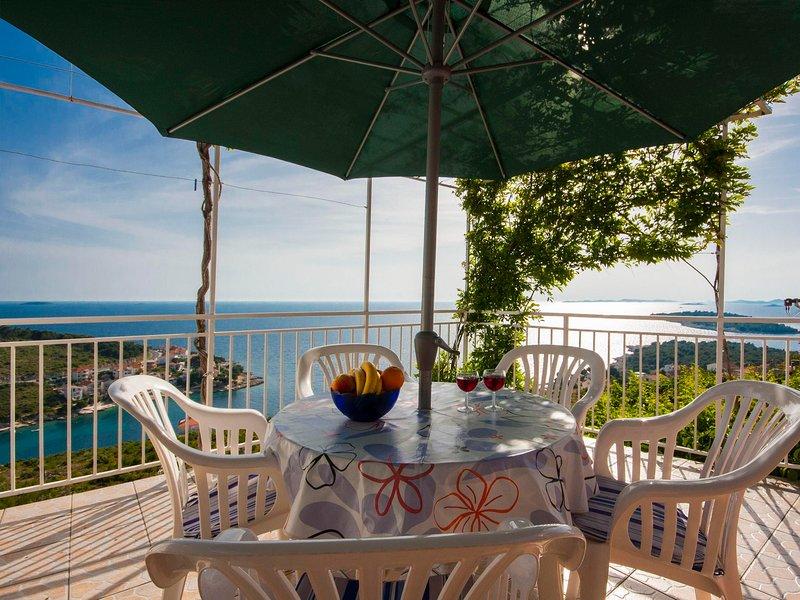 Chaise, meubles, table à manger, table, patio