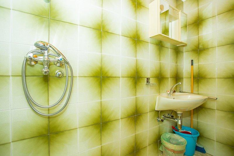 All'interno, stanza, lavandino, bagno, rubinetto lavandino