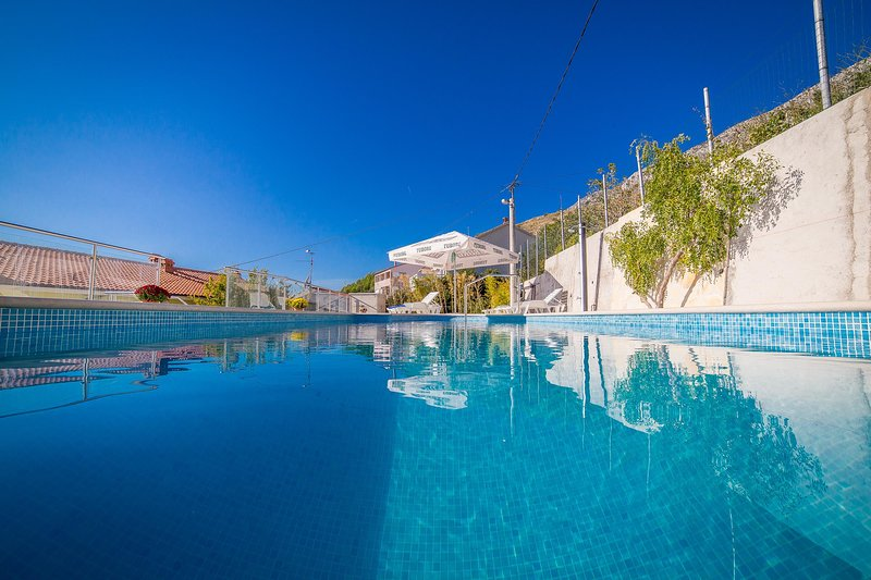Resort, hotel, costruzione, l'acqua, Pool