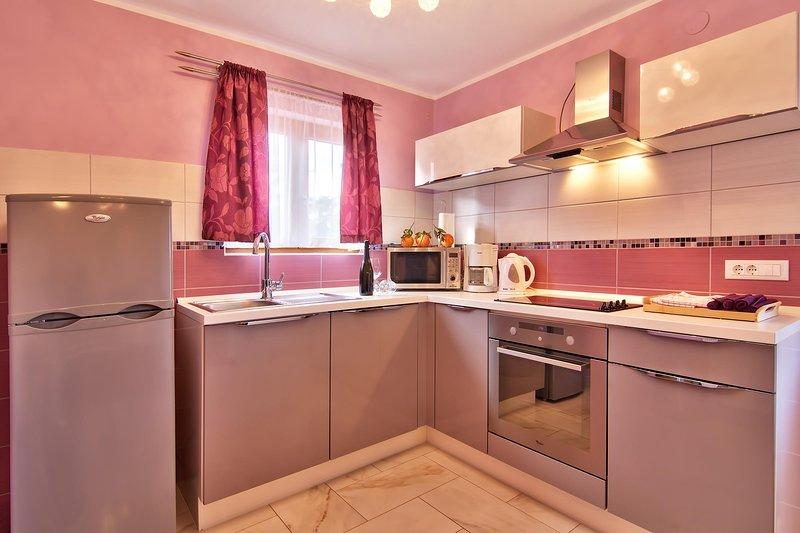 Quarto, Interior, Cozinha, Geladeira, Móveis
