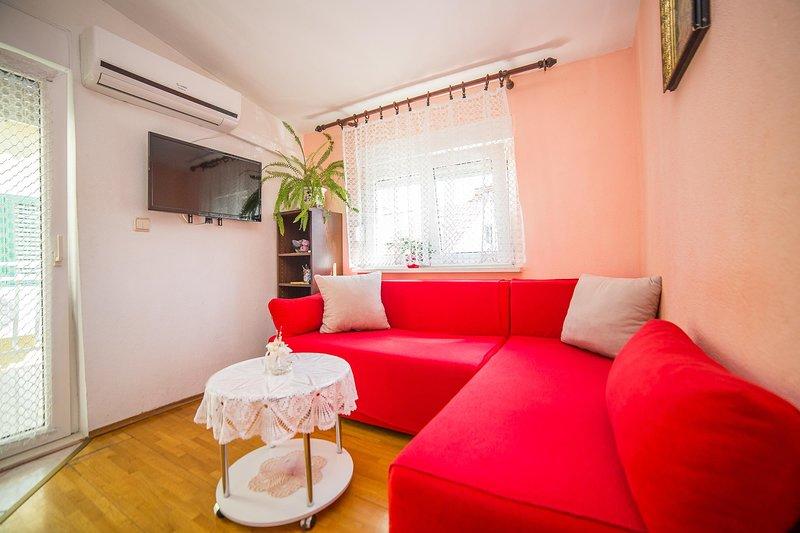 Sala de estar, interior, sala, muebles, sofá