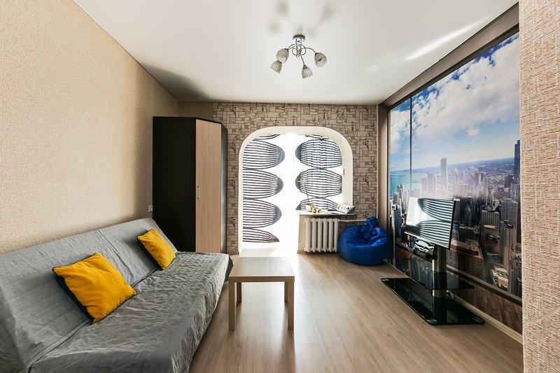 GorodM Cozy studio in Moscow centre with panoramic view – semesterbostad i Dorogomilovo
