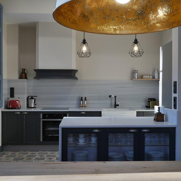 Cucina aperta completamente attrezzata