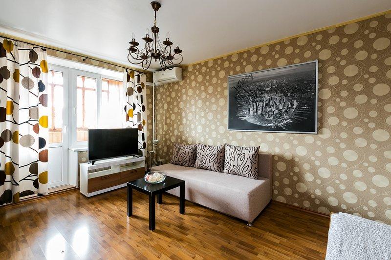 GorodM Sunny apartment in 15 min from Red Square, location de vacances à Khimki