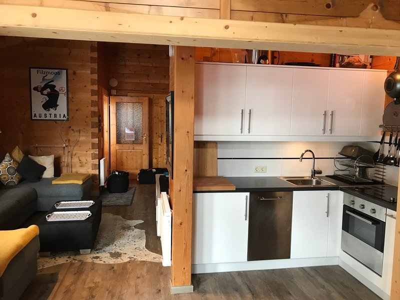 This beautifully furnished  open plan chalet is a great space for family & friends to relax together