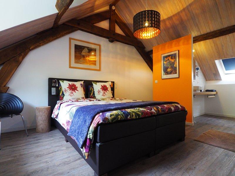 Chambre 'Janny' in B&B Moulin de la Fayolle aan rivier la Sioule, location de vacances à Chapdes-Beaufort