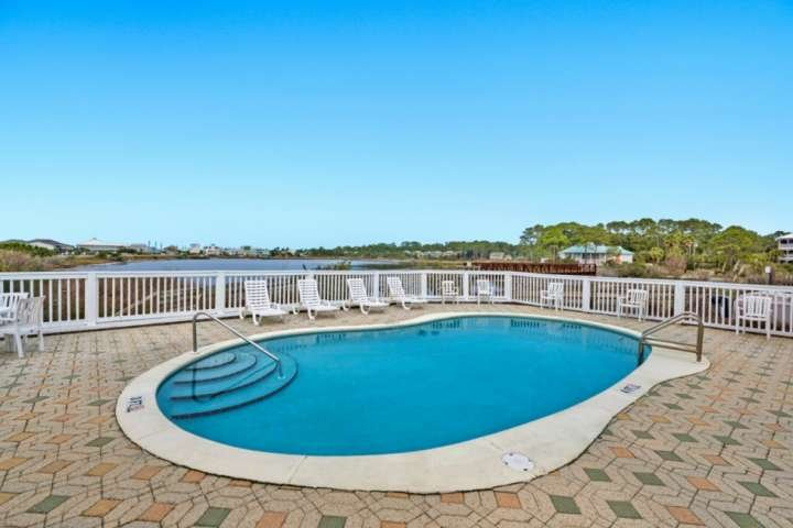 Seasonally heated community pool just steps from the home