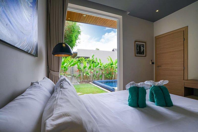 Chambre 3 vue jardin