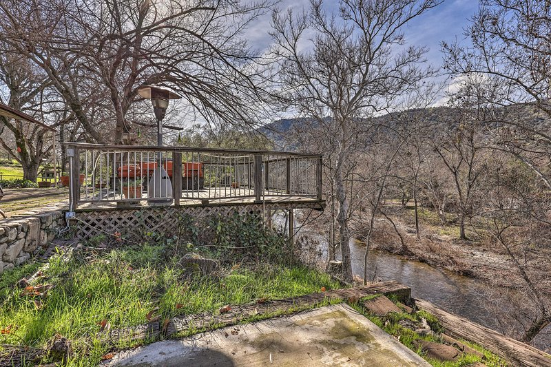 'Kaweah River Cabin' sits directly on the North Fork Kaweah River!