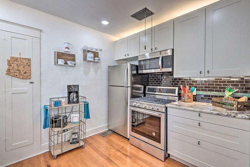 Prepare your favorite meals in this pristine fully equipped kitchen.