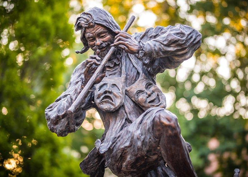 Bronze sculpture 'Jethro'