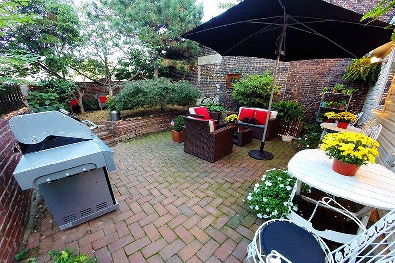 Garden & Brick Patio