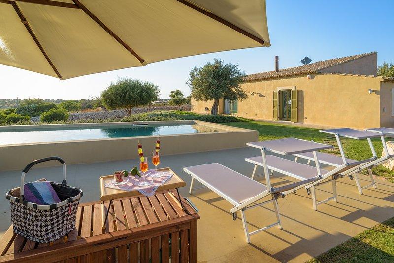 Psyke, villa with pool and panoramic view, vacation rental in Donnafugata