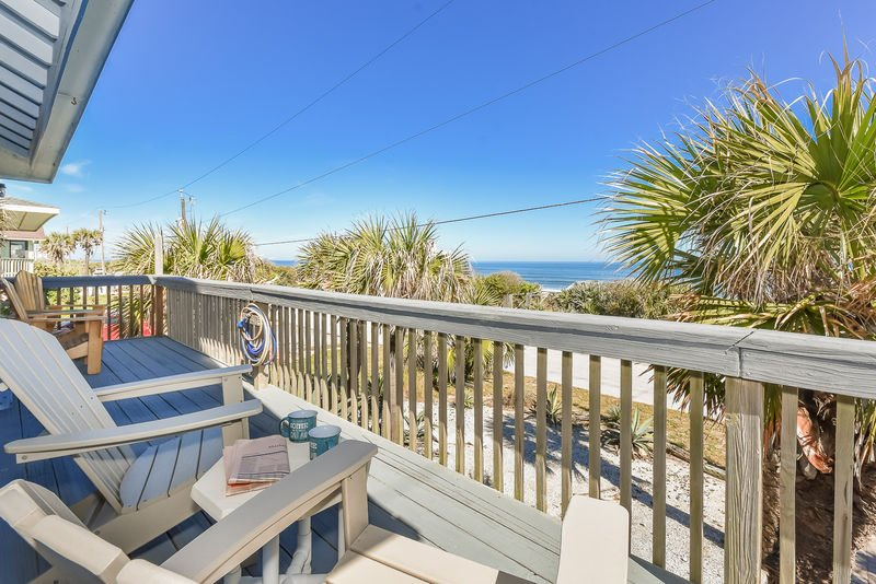 Relax on the ocean front deck and take in the gorgeous view.