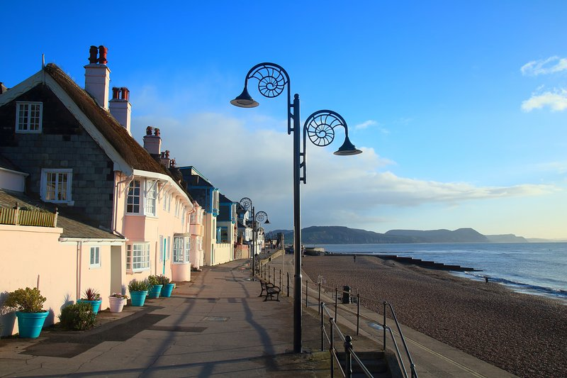 Lyme Regis is about 45 minutes away but well worth a trip. Great small beach and restaurants.