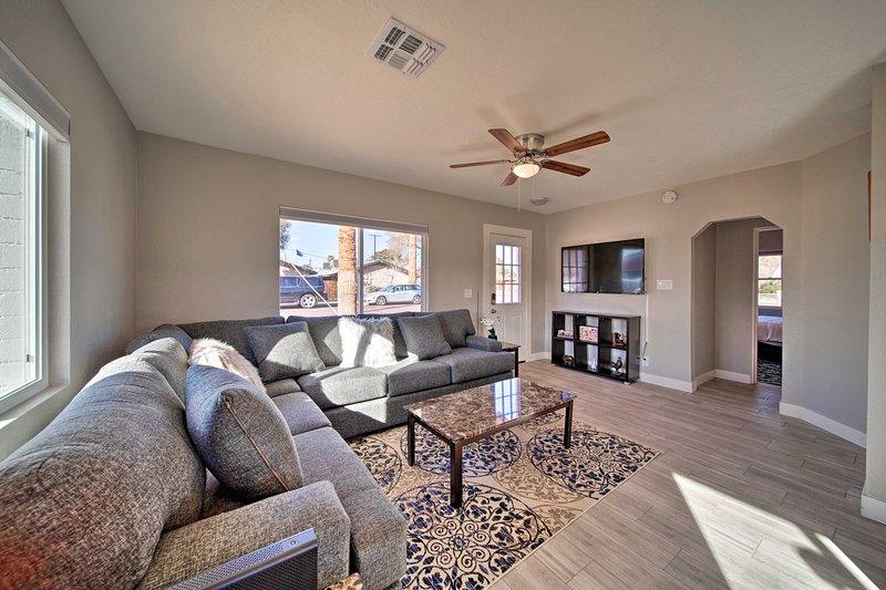 Dieses geräumige Haus mit Betten für 4 Personen ist ideal für Familien, die Komfort suchen.