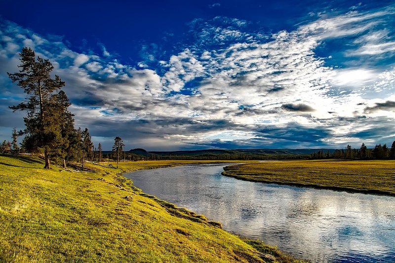 Beautiful landscape in Yellowstone